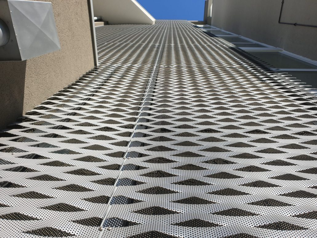 Reti stirate per rivestimenti di facciata